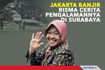 Jakarta Banjir, Risma Cerita Pengalamannya di Surabaya