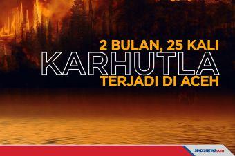 25 Kali Karhutla terjadi di Aceh dalam Waktu 2 Bulan
