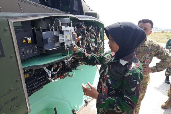 Sertu Kowad Nur Hayyu, Srikandi Cantik Punggawa Helikopter Apache