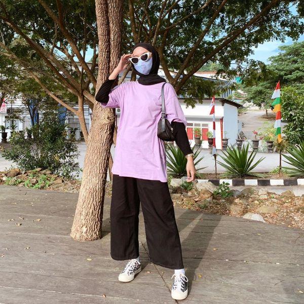 Ootd Pake Warna Ungu Lilac Yang Lagi Hits Cocok Buat Hijabers