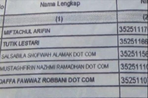Viral Nama Keluarga Unik, 3 Bersaudara di Gresik Memiliki Nama Dotcom