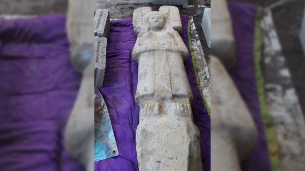 La 'Guerra de las Galaxias' es la estatua más antigua de México con un casco similar