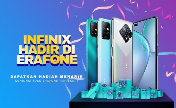 Ponsel Infinix Resmi Nongkrong di Seluruh Gerai Erafone