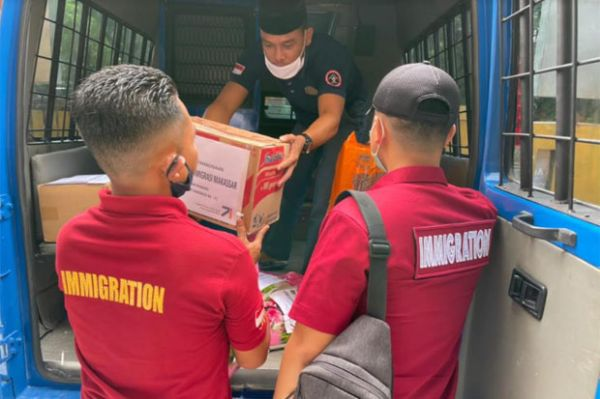 Rudenim Makassar Bantu Korban Gempa Sulbar