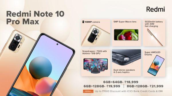 Redmi Note 10 Pro, Note 10, dan Note 10 Pro Max Meluncur di India