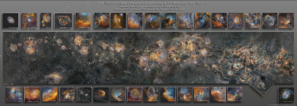 Difícil de creer, este proceso tomó 12 años para pintar la Vía Láctea de la galaxia