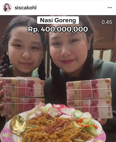 Profil Sisca Kohl, Artis TikTok yang Viral gegara Masak Nasi Goreng Rp400 Juta