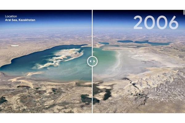Google Earth menunjukkan efek merusak dari perubahan iklim