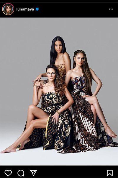 Luna Maya, Cinta Laura, dan Anya Geraldine Pose Cantik Berbalut Gaun Batik, Warganet: The Real Aset Negara
