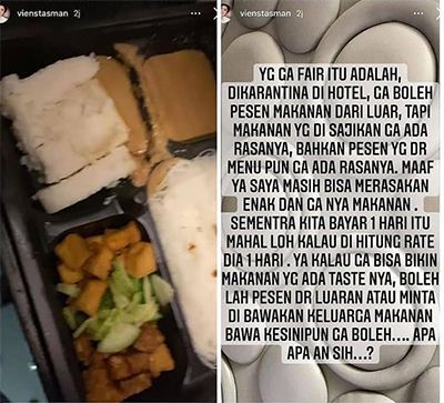 Karantina di Hotel, Ibu Rachel Vennya Keluhkan Kualitas Makanan: Nggak Ada Rasanya