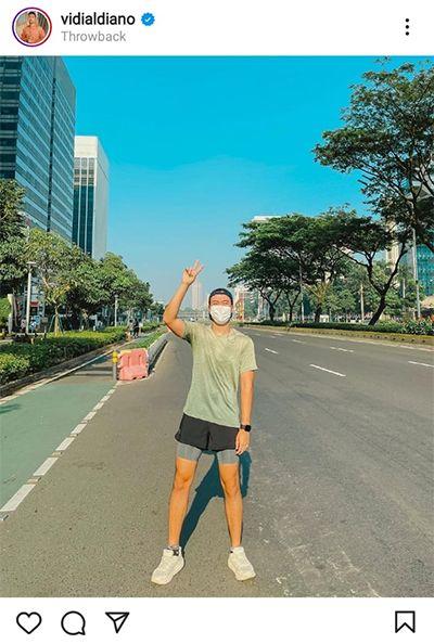 Unggah Foto Olahraga saat Jalanan Jakarta Sepi, Vidi Aldiano Kena Semprot Netizen