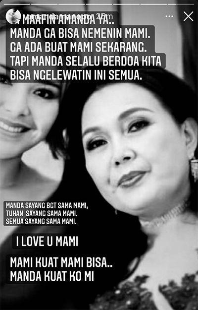 Ibunda Masuk ICU, Amanda Manopo Minta Maaf Tak Bisa Menemani