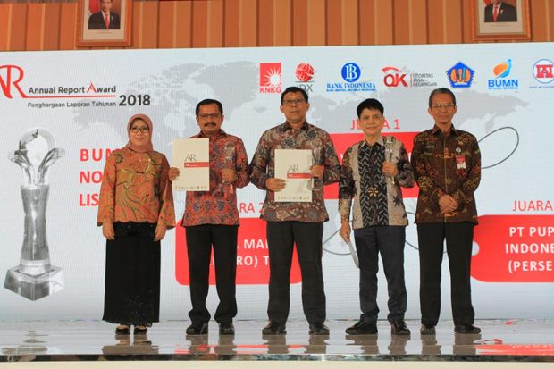 Pupuk Indonesia Raih Annual Report Award Kategori BUMN Non Keuangan Listed