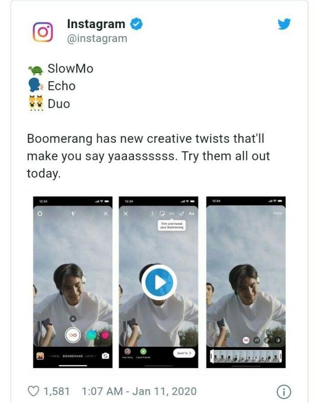 Ini Cara Bikin Video Boomerang dengan Fitur Efek yang Baru