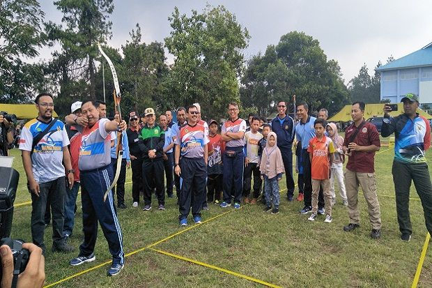 827 Atlet Berlaga di Danseskoau Archery Open Tournament Lembang