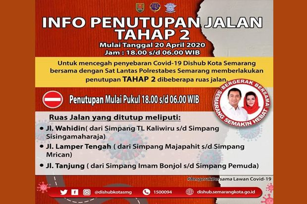 Penutupan Jalan Sasar Semarang Atas Hari Ini Mulai Diberlakukan