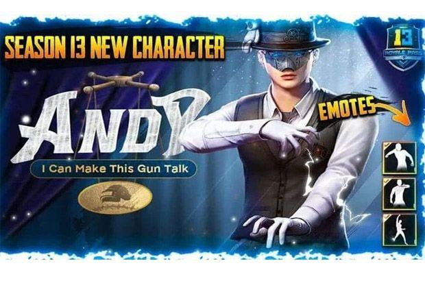 PUBG Mobile Datangkan Karakter Baru Andy di Season 13