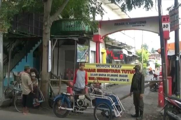 Pedagang Berstatus PDP Meninggal Pasar Krempyeng di Bojonegoro Ditutup