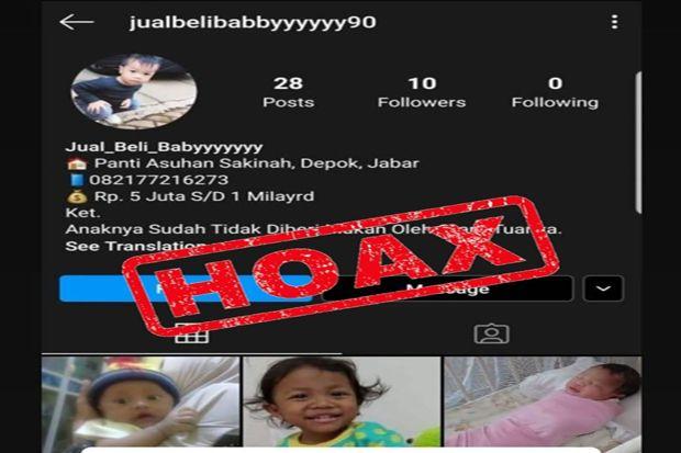 Polisi Tegaskan Jual Beli Bayi di Panti Asuhan Sakinah Depok, Hoaks