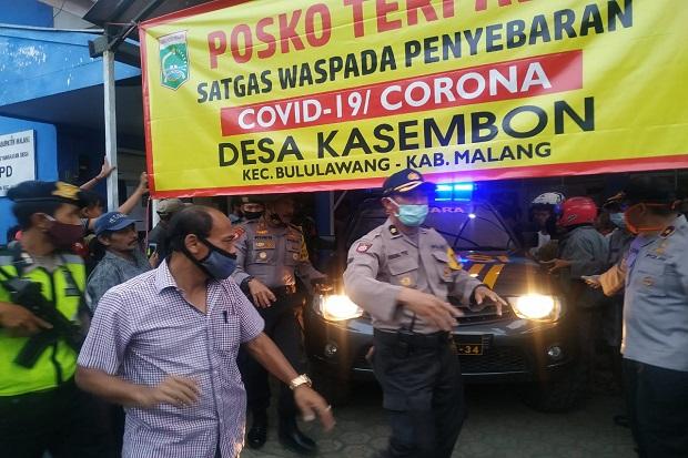 Dikepung Massa Pecuri Motor Dievakuasi Dalmas Polres Malang