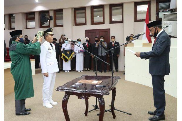 Gubernur Sulsel Lantik Yusran sebagai Penjabat Wali Kota Makassar