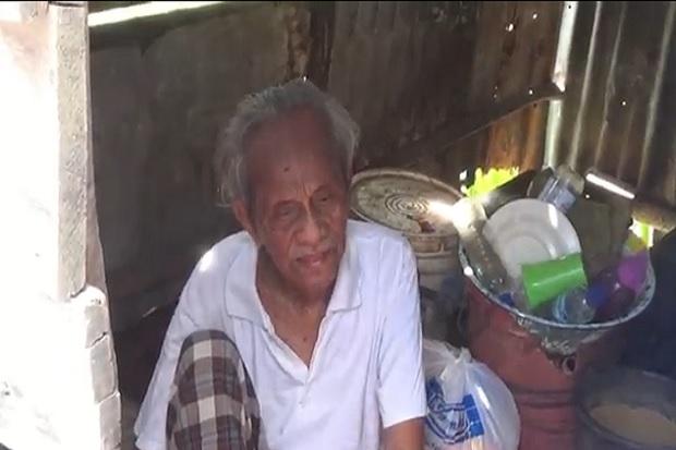 Derita Kakek Buta di Palembang yang Disuruh Mengemis dan Ditelantarkan Anaknya