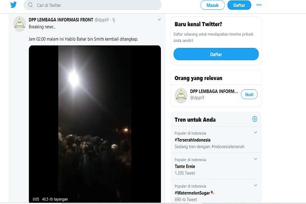 Habib Bahar: Penangkapan Saya karena Ceramah Malam saat Dibebaskan