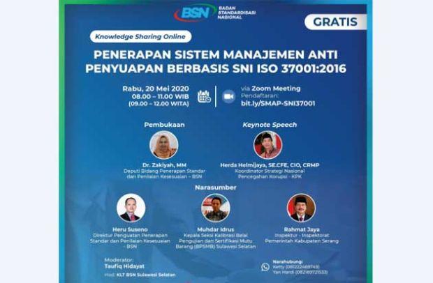 Cegah Korupsi di Indonesia Lewat SNI Sistem Manajemen Anti Penyuapan