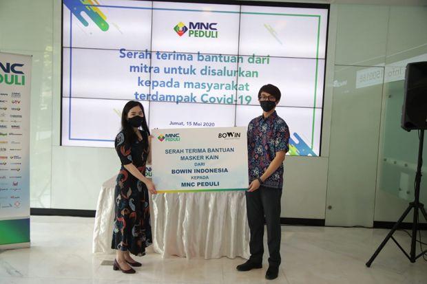 Bowin Indonesia Salurkan Masker Kain untuk Pencegahan Covid-19 Melalui MNC Peduli