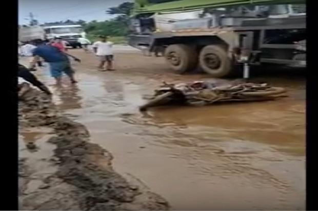 TKA China Tewas Menggenaskan Terlindas Truk di Konawe Viral di Medsos