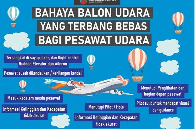 Pelepasan Balon Udara Bahayakan Penerbangan