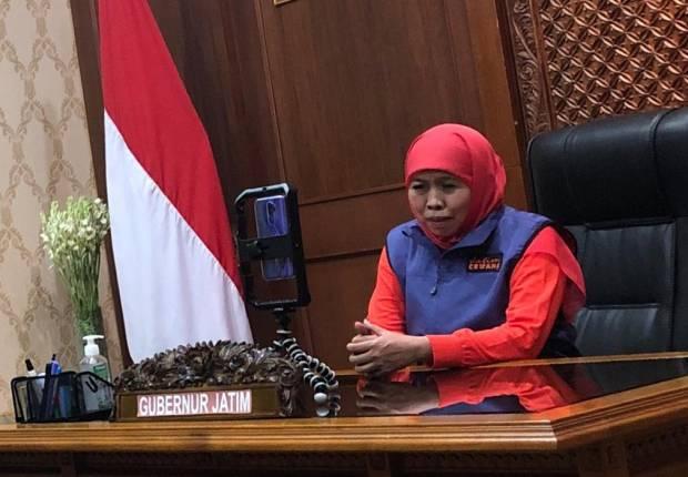 Khofifah Larang Warga Jatim Balik ke Jakarta