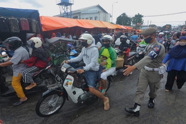 1.502 Pelanggar PSBB Kota Bogor Ditindak, Petugas Setor Rp22 Juta ke Kas Daerah