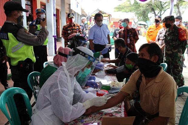 Hasil Rapid Test Pasar Tradisional di Blora, 6 Orang Reaktif Corona