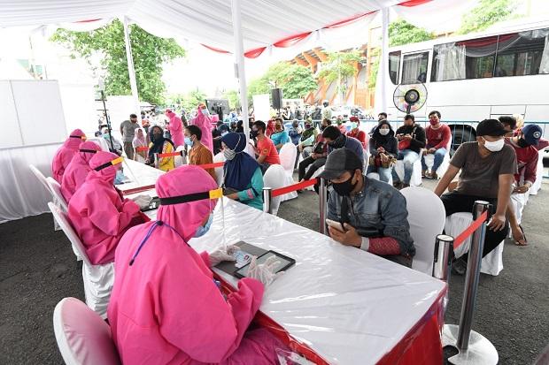 Hari ke-4 Rapid Test di Surabaya, BIN Temukan 187 Orang Reaktif