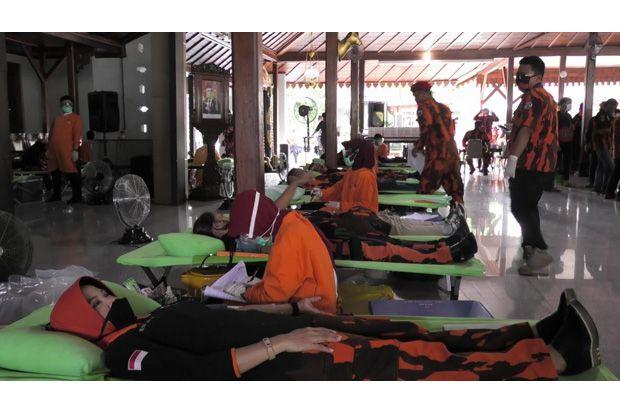 Harlah Pancasila, Ratusan Pemuda Banyumas Gelar Donor Darah