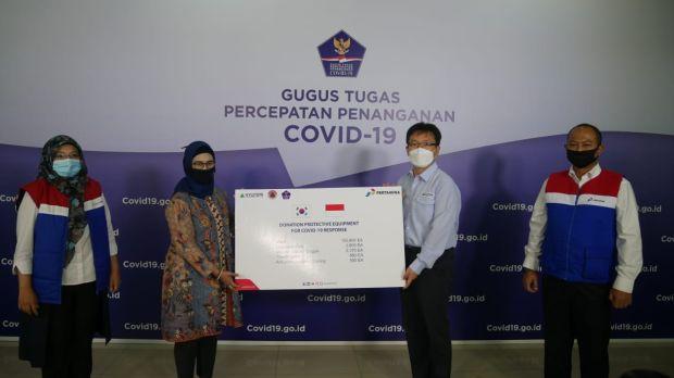 Hyundai Engineering Serahkan Bantuan Alat Proteksi COVID-19 kepada BNPB
