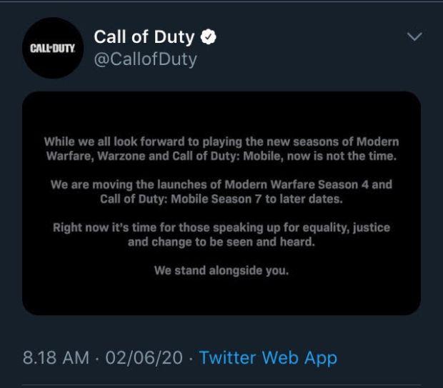 Dukung Kasus George Floyd, Activision Tunda Season Baru Call of Duty