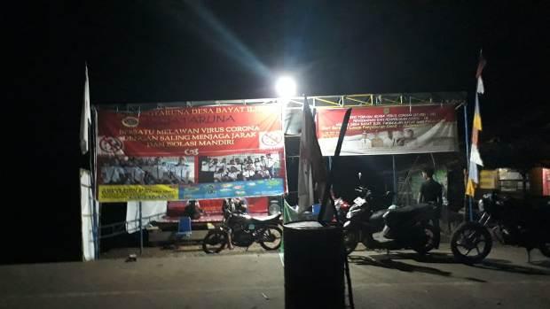 Kecamatan Bayung Lencir, Aktifkan Siskamling Bahu Membahu Jaga Kampung