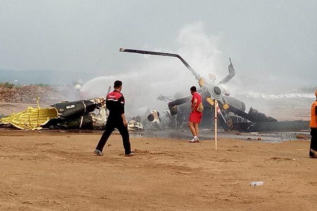 Helikopter Milik TNI AD Jatuh di Kendal, 4 Orang Tewas 5 Luka