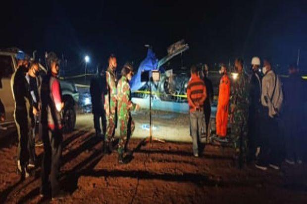 Evakuasi Bangkai Helikopter Jatuh Sempat Terkendala Hujan Deras