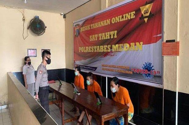 New Normal, Tahanan Polda Sumut Dibesuk Secara Online hanya 30 Menit