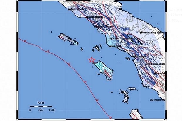 Gempa Bermagnitudo 5,1 Guncang Nias Utara
