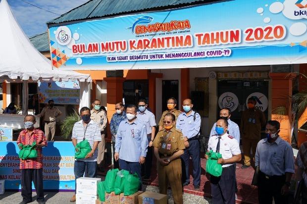 Bea Cukai Pantoloan Kawal Ekspor Perdana Hasil Perikanan Sulawesi Tengah