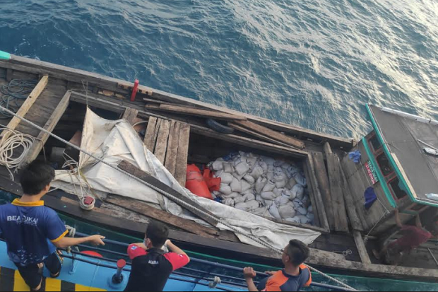 Penyelundupan 10 Ton Pasir Timah di Perairan Natuna Digagalkan