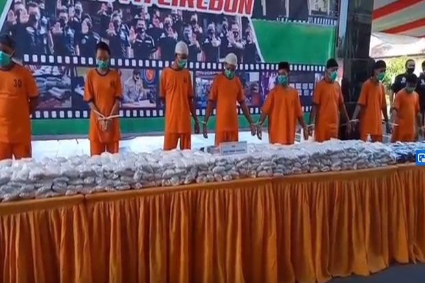 Polresta Cirebon Amankan 1 Juta Butir Obat Terlarang
