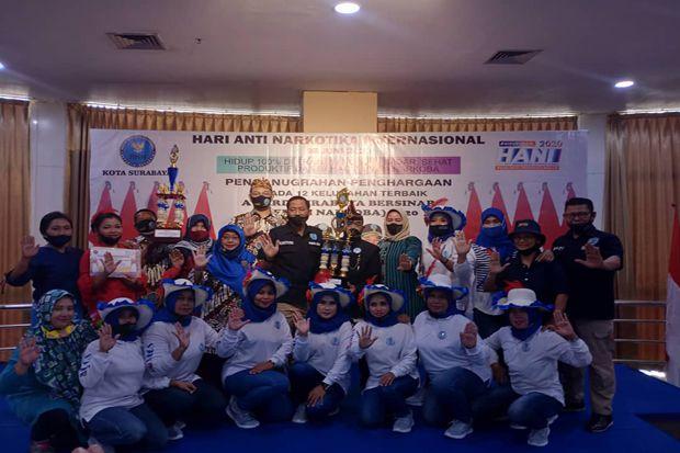 Puncak HANI 2020, BNNK Surabaya Anugerahi 12 Kelurahan Bersinar