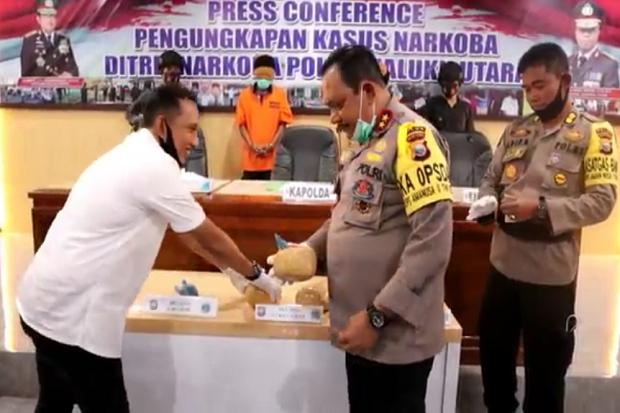 Pengedar Ganja Jaringan Lapas Dibongkar Polda Maluku Utara