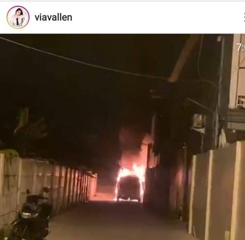 Mobil Via Vallen Dibakar: Ada yang Bakar, Disiram Bensin Mobil Saya