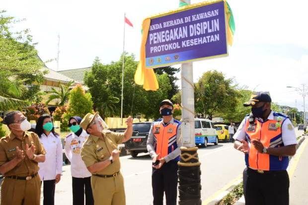 Era New Normal, Pemkot Gorontalo Membuat Kawasan Tertib Protokol Kesehatan